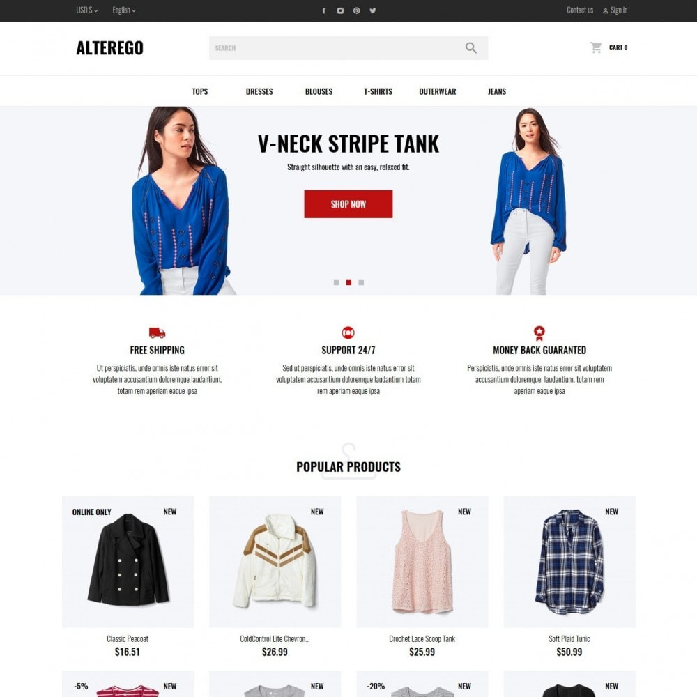 theme - Мода и обувь - Alterego Fashion Store - 6