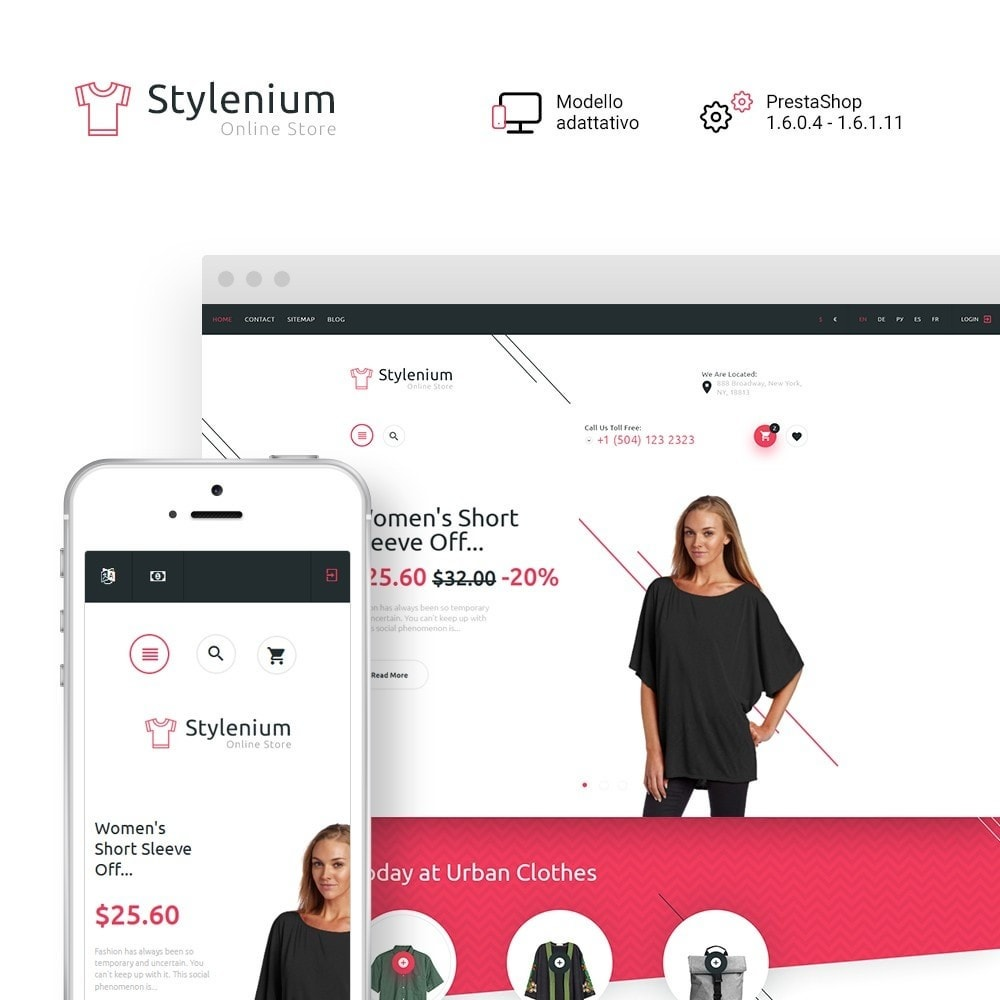 theme - Moda & Calzature - Stylenium - Negozio di abbigliamento PrestaShop - 2
