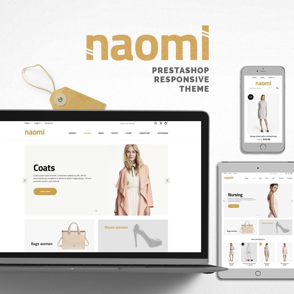 theme - Mode & Chaussures - Naomi Fashion Store - 1
