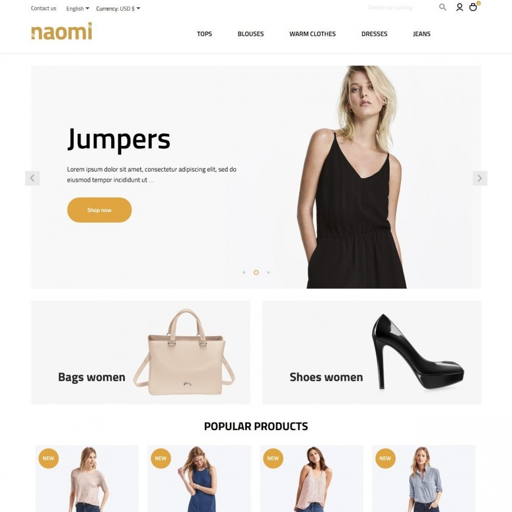 theme - Mode & Chaussures - Naomi Fashion Store - 2