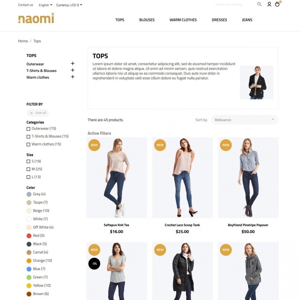 theme - Mode & Chaussures - Naomi Fashion Store - 5