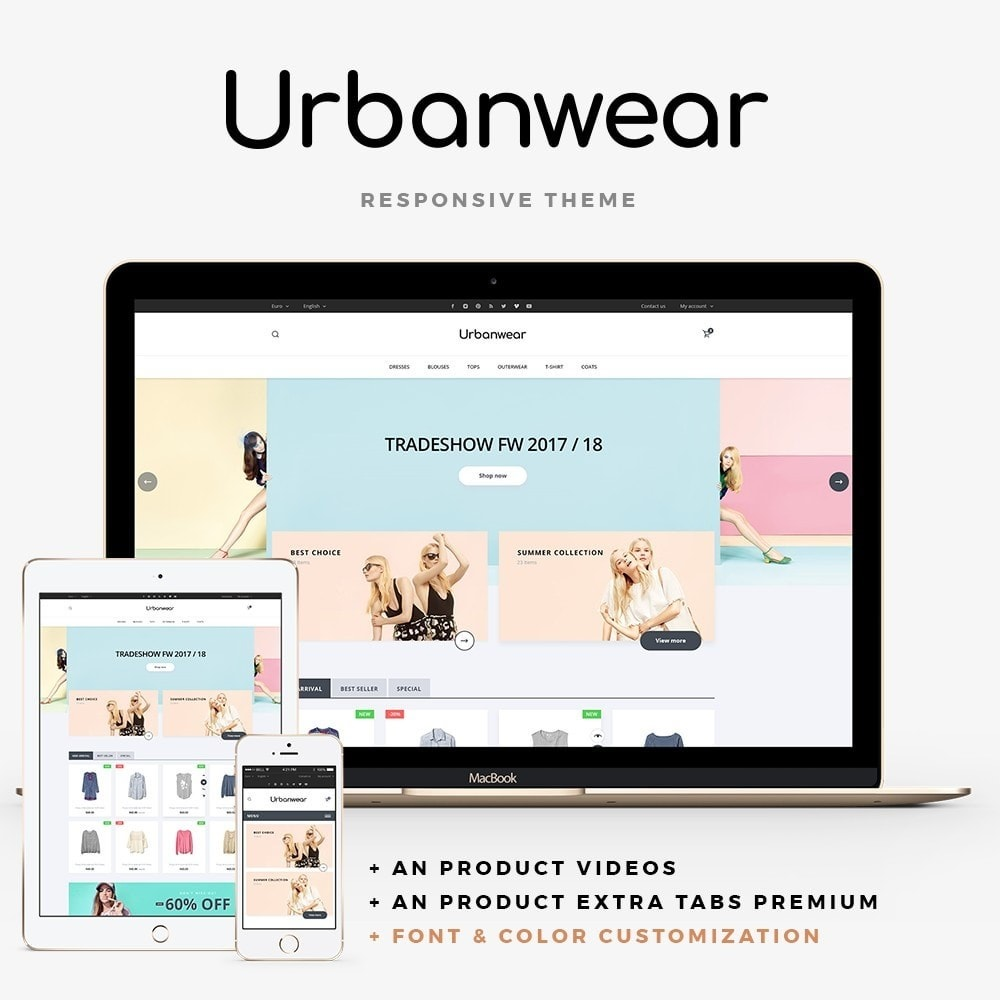 theme - Мода и обувь - Urbanwear  Fashion Store - 1