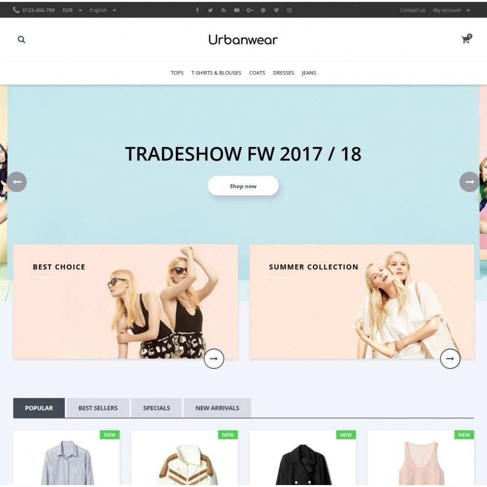 theme - Мода и обувь - Urbanwear  Fashion Store - 2