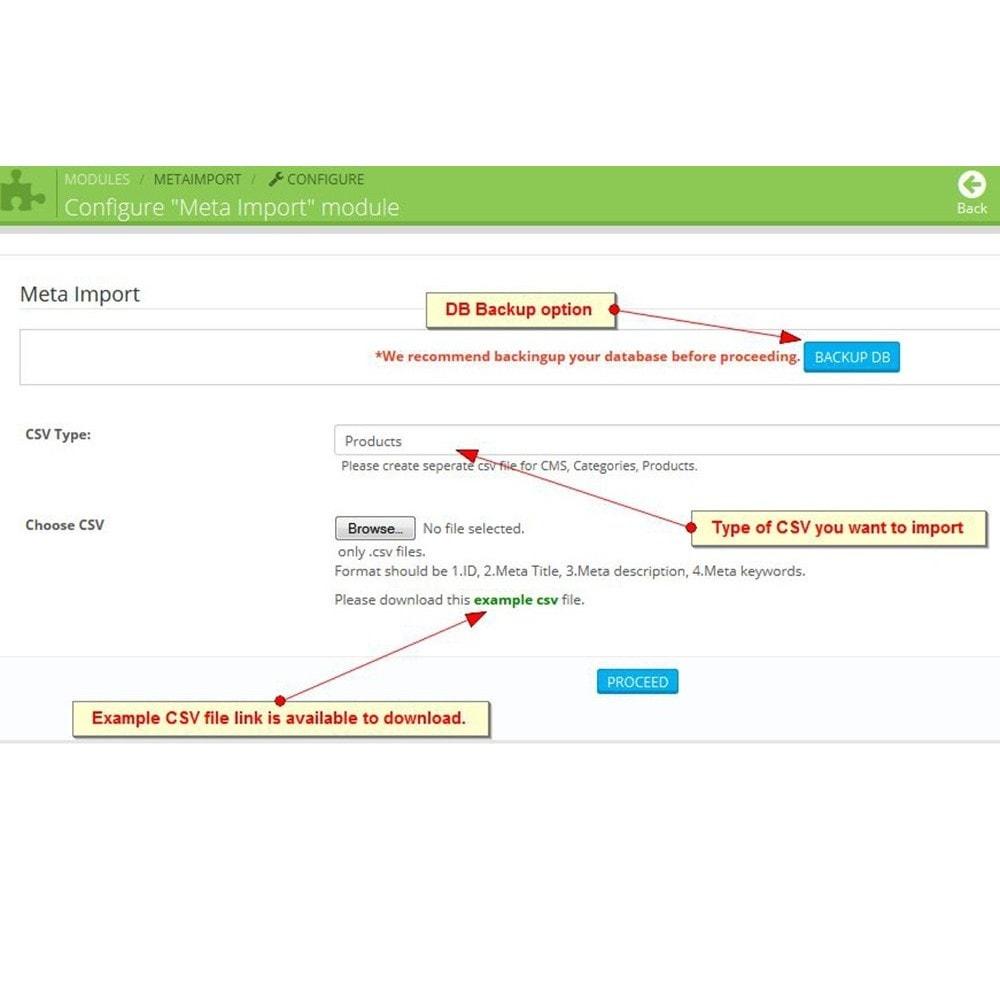 module - SEO (référencement naturel) - Tags SEO, importation de balises méta - 3
