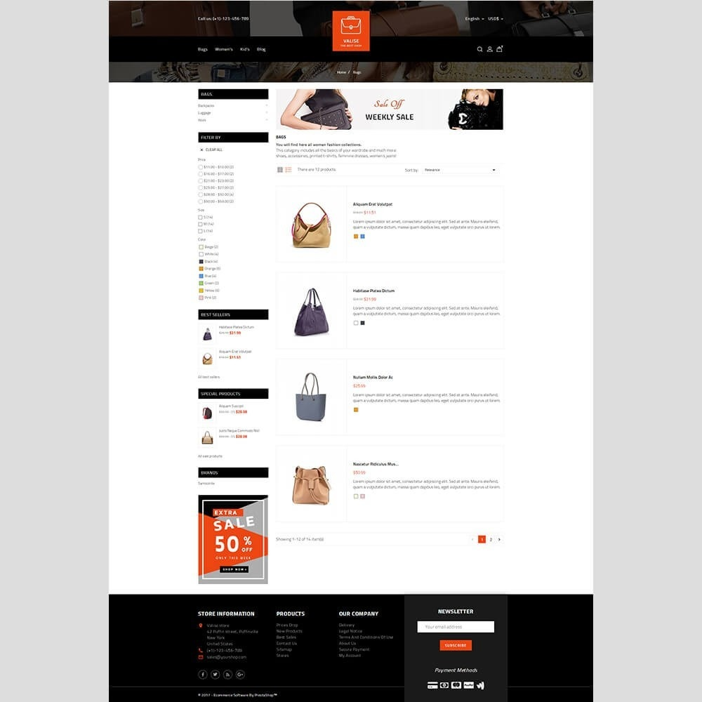 theme - Mode & Schoenen - Valise Store - 4