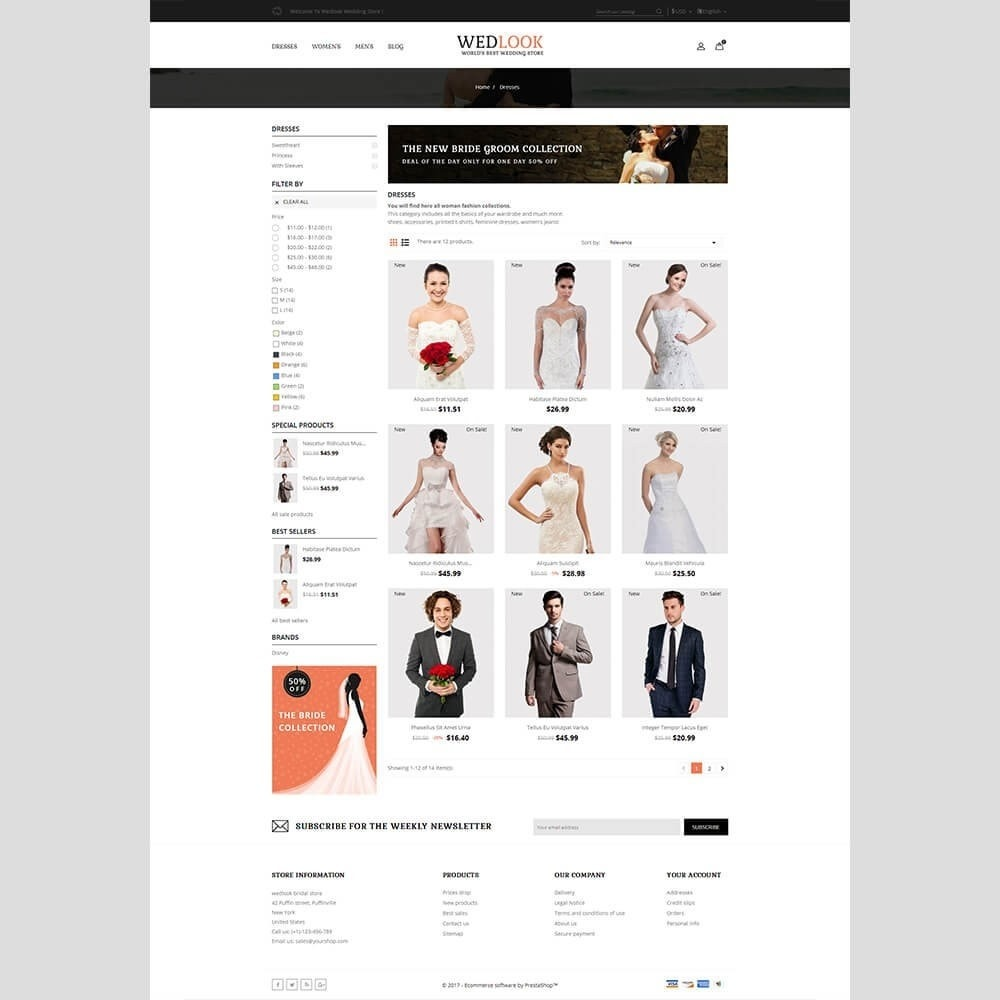 theme - Mode & Chaussures - Wedlook Wedding Store - 3