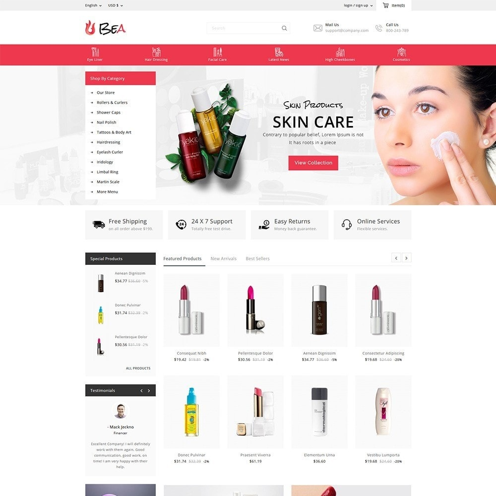 theme - Salute & Bellezza - Beashop Beauty Store - 2