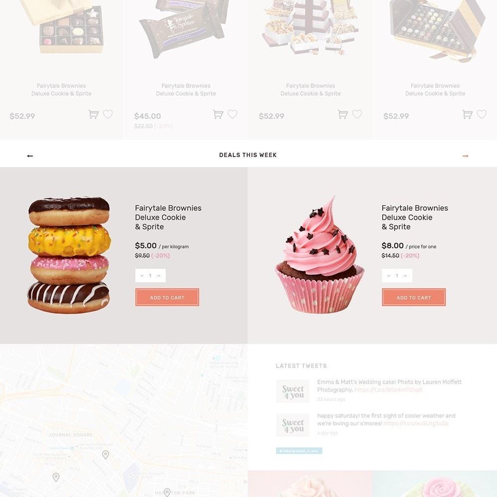 theme - Gastronomía y Restauración - Sweet4you - para Sitio de Tienda de Dulces - 8