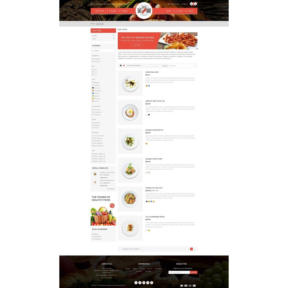 theme - Lebensmittel & Restaurants - Takeaway - Online Restaurant - 4