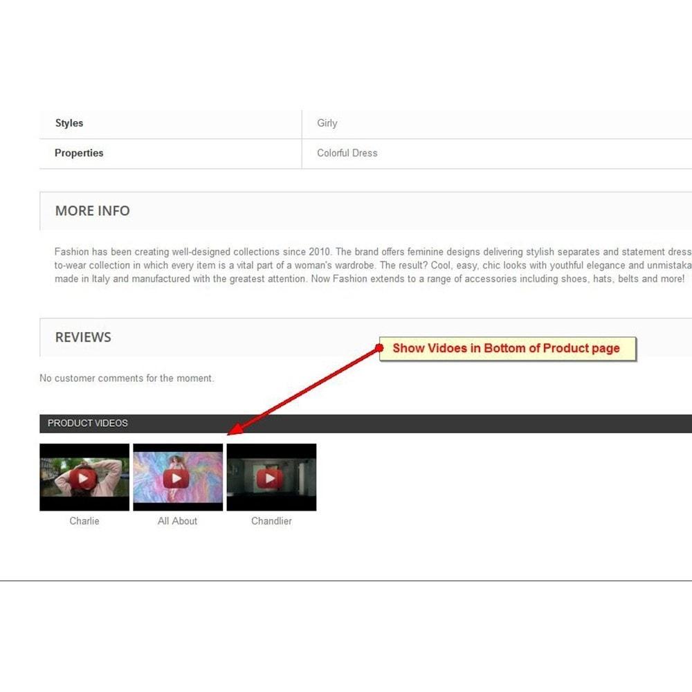 module - Vidéo & Musique - Vidéos du produit Youtube - 4