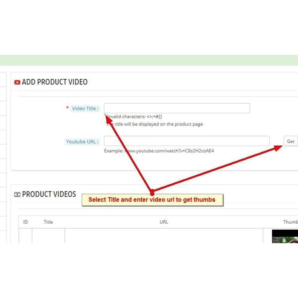 module - Vidéo & Musique - Vidéos du produit Youtube - 9