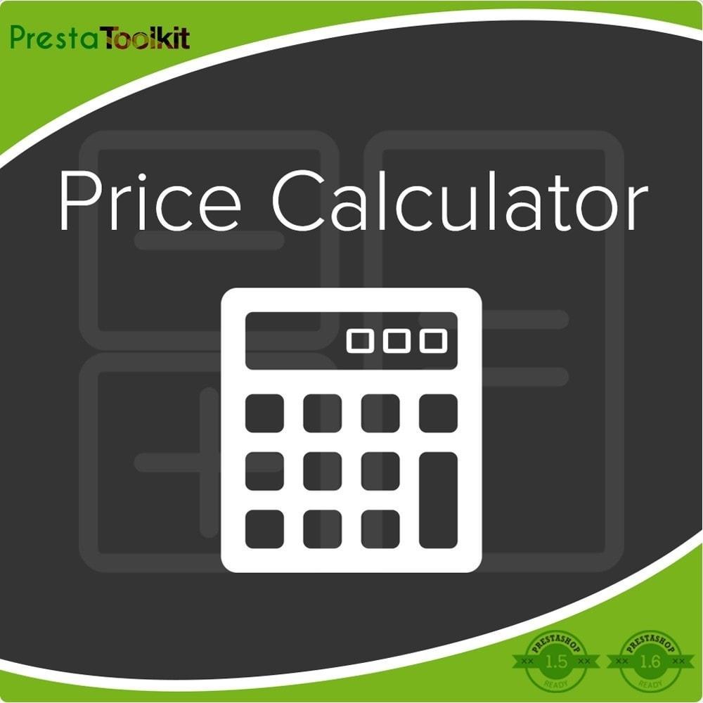 module - Informaciones adicionales y Pestañas - Calculadora de precios, Actualización de precios - 1