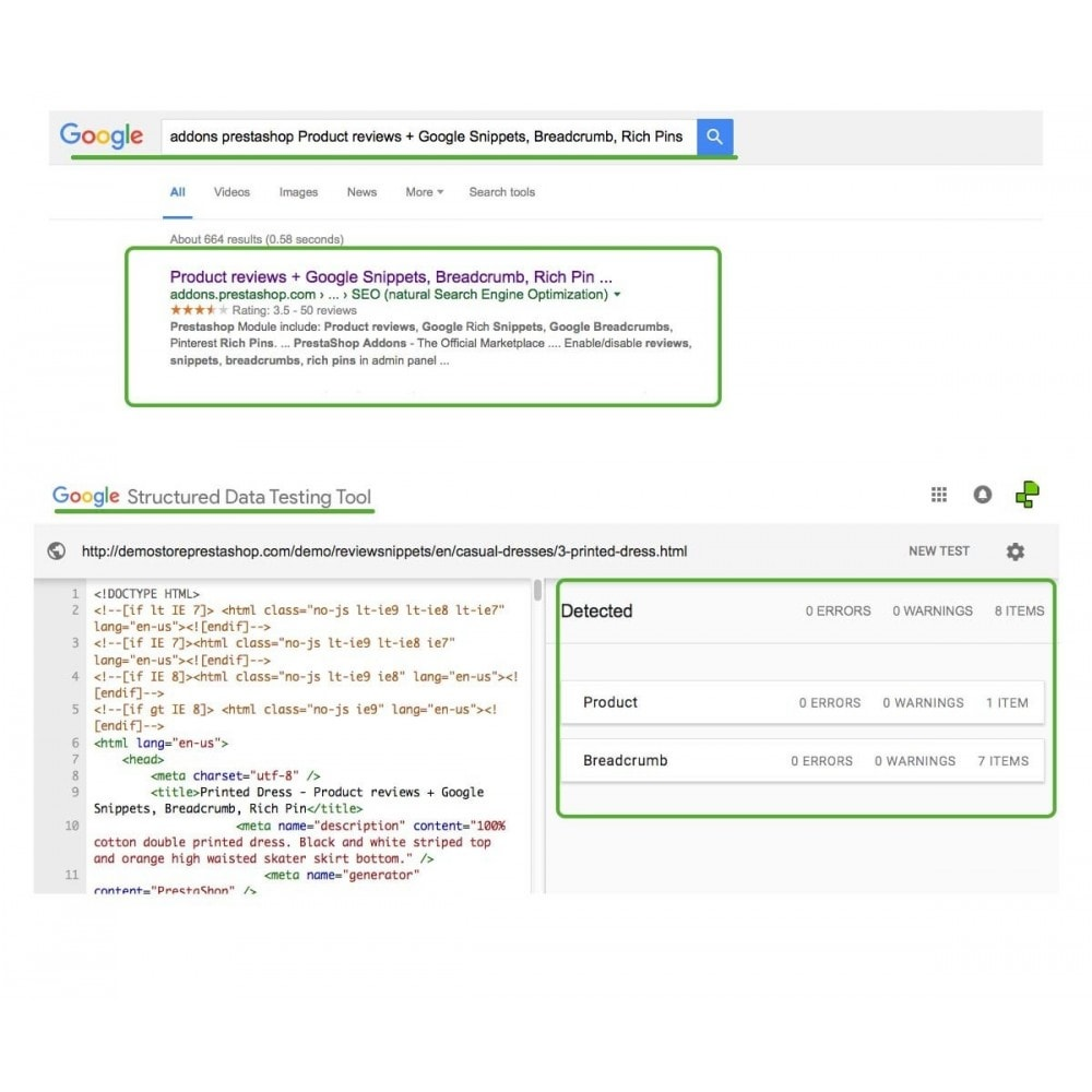module - SEO (Indicizzazione naturale) - Product reviews + Google Snippets, Breadcrumb, Rich Pin - 3