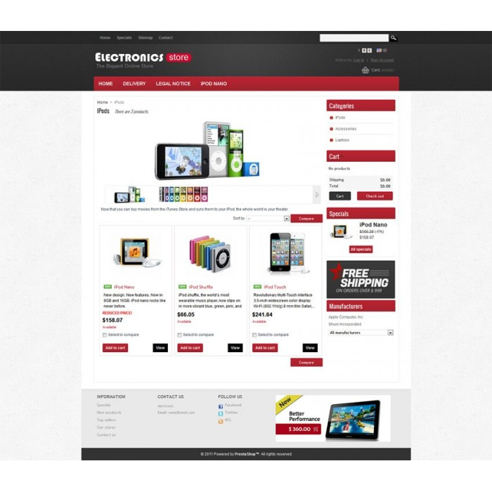 theme - Elettronica & High Tech - Prestashop Electronics Store Theme - 1