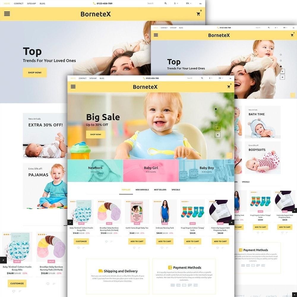 theme - Enfants & Jouets - BorneteX - articles de maternité thème PrestaShop - 2