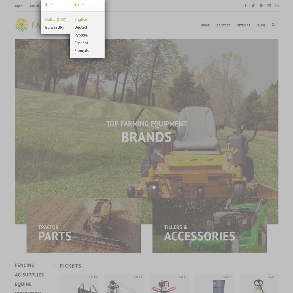 theme - Automotive & Cars - FarmEuro - Agricultural Responsive - 5