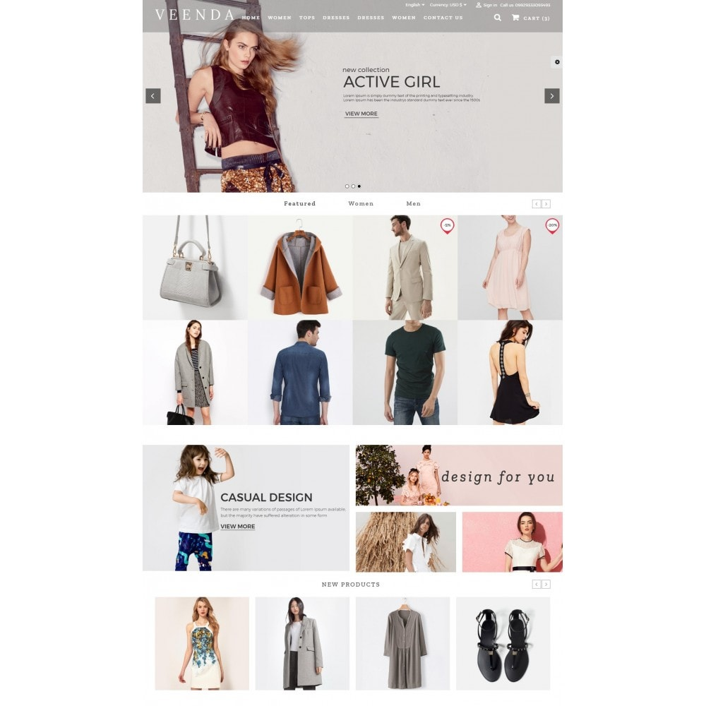 theme - Мода и обувь - Veenda Fashion Shop - 2