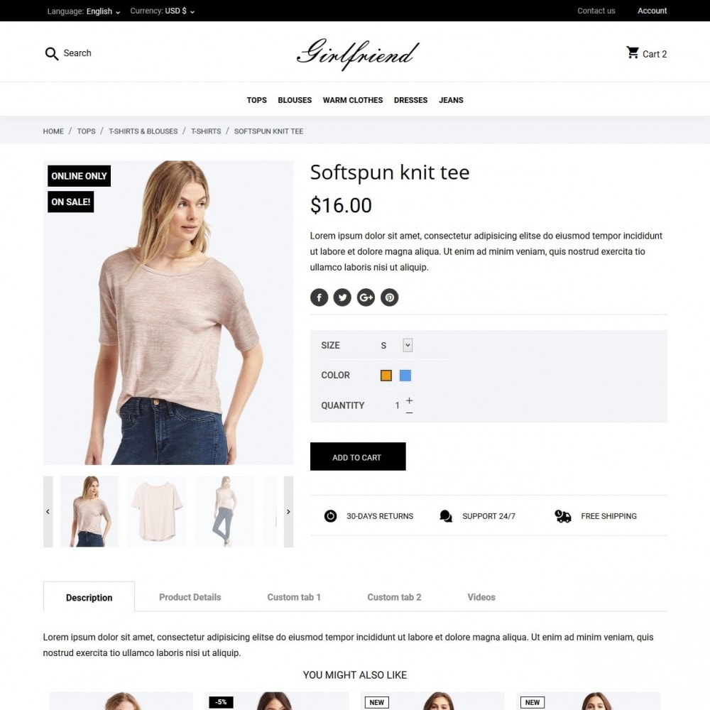 theme - Moda y Calzado - Girlfriend Fashion Store - 6