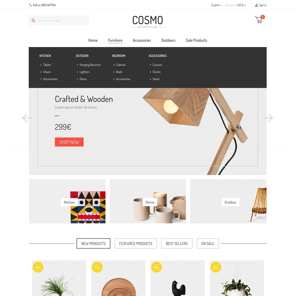 theme - Maison & Jardin - Cosmo - 2