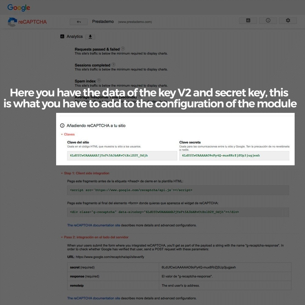 module - Security & Access - Add Google reCAPTCHA to store forms - 6