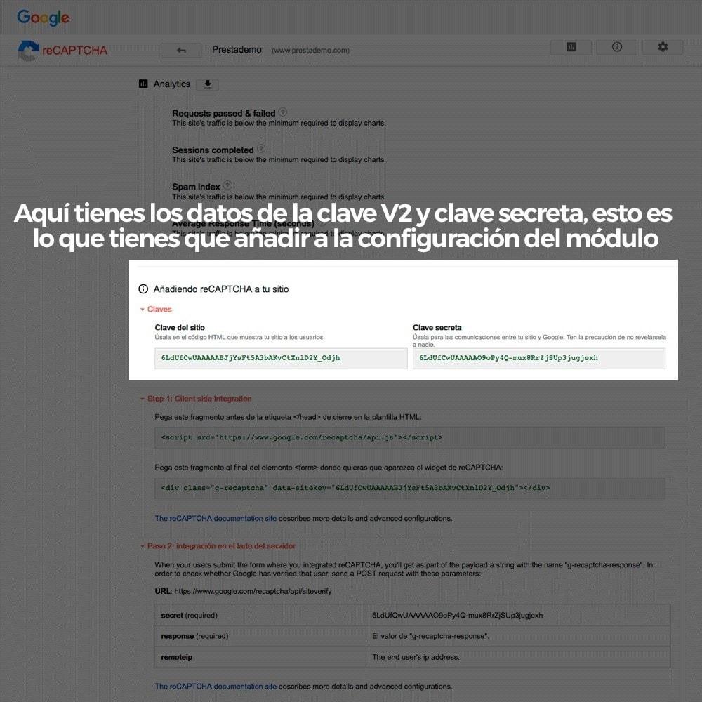 module - Seguridad y Accesos - Añadir Google reCAPTCHA a los formularios de la tienda - 6