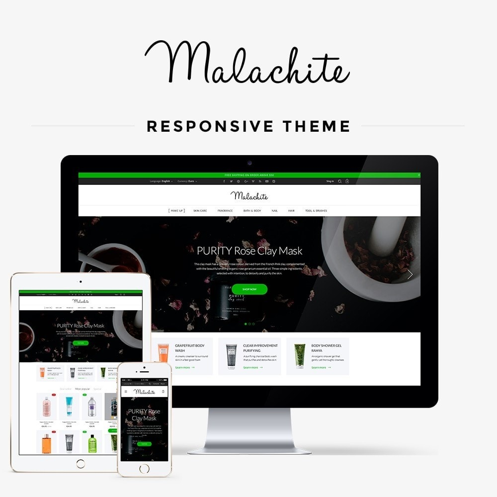 theme - Salute & Bellezza - Malachite Cosmetics - 1