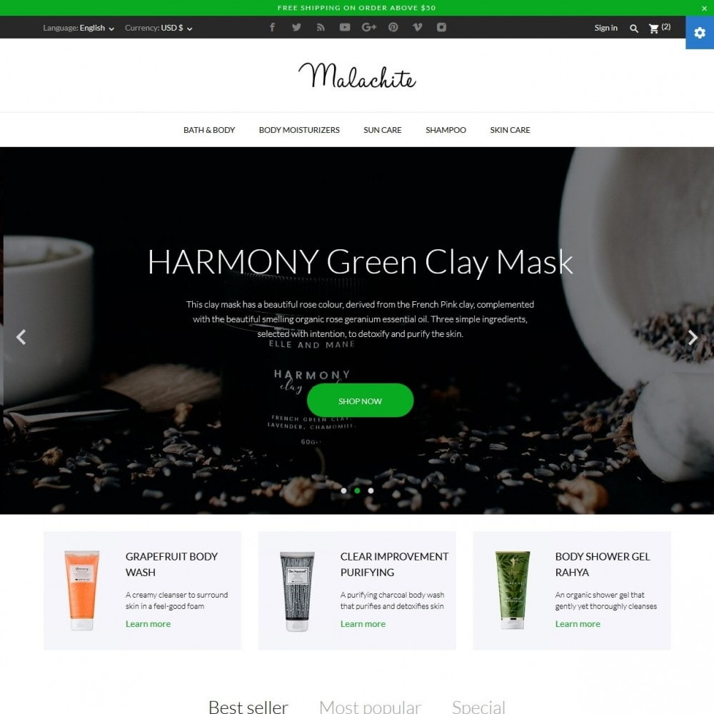 theme - Salute & Bellezza - Malachite Cosmetics - 2