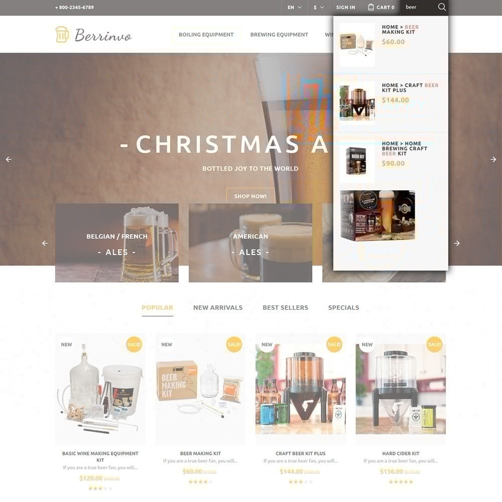 theme - Food & Restaurant - Berrinvo - Brewery Responsive - 4