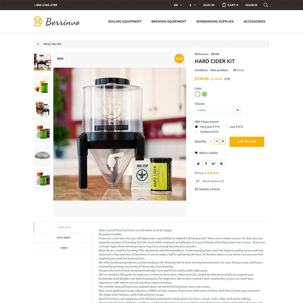 theme - Food & Restaurant - Berrinvo - Brewery Responsive - 6