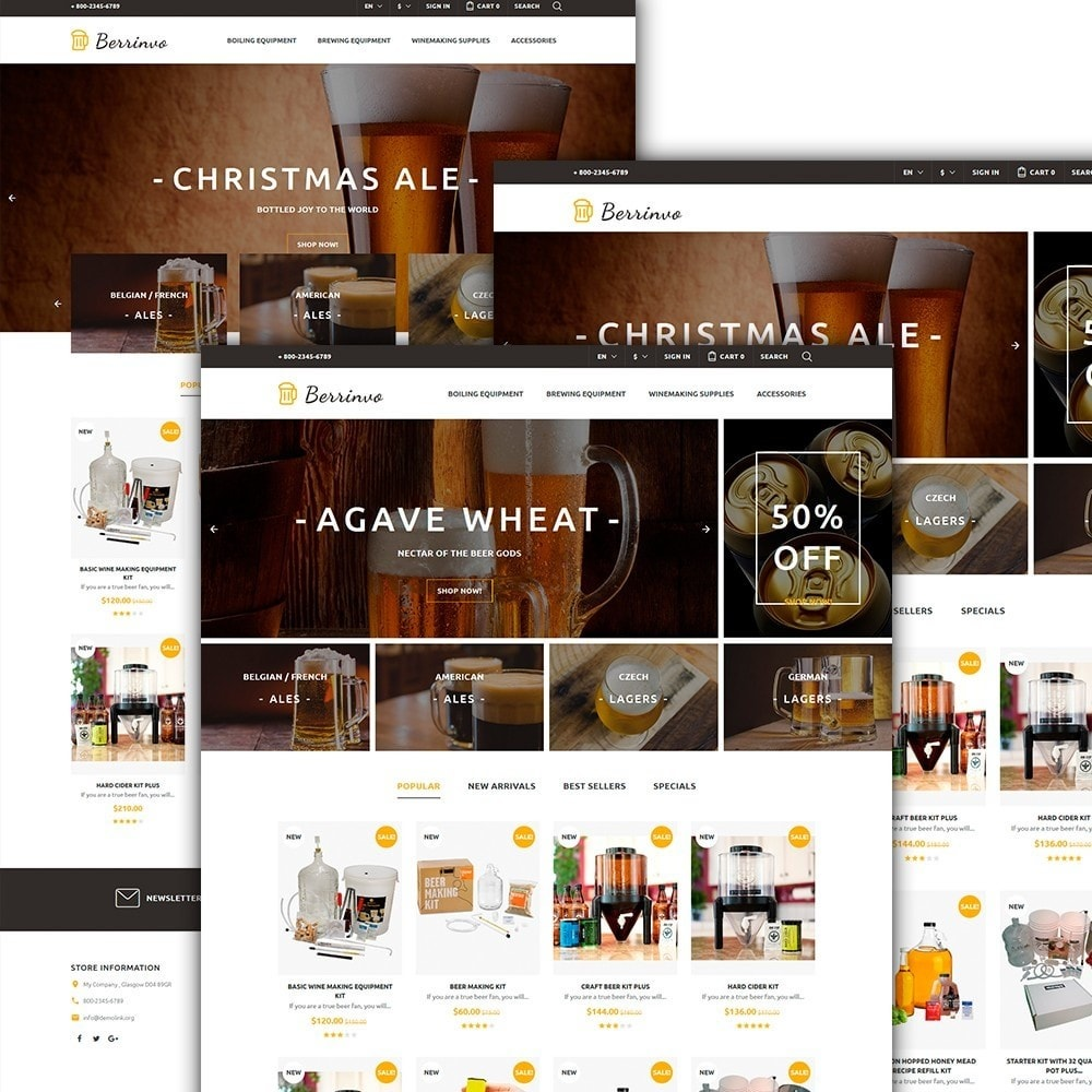 theme - Alimentation & Restauration - Berrinvo - Brasserie thème PrestaShop adaptatif - 2