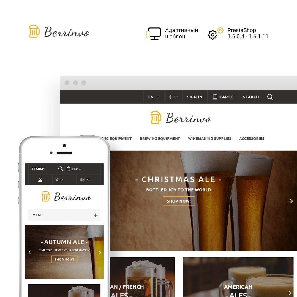 theme - Продовольствие и рестораны - Berrinvo - Адаптивный PrestaShop шаблон пивоварни - 1