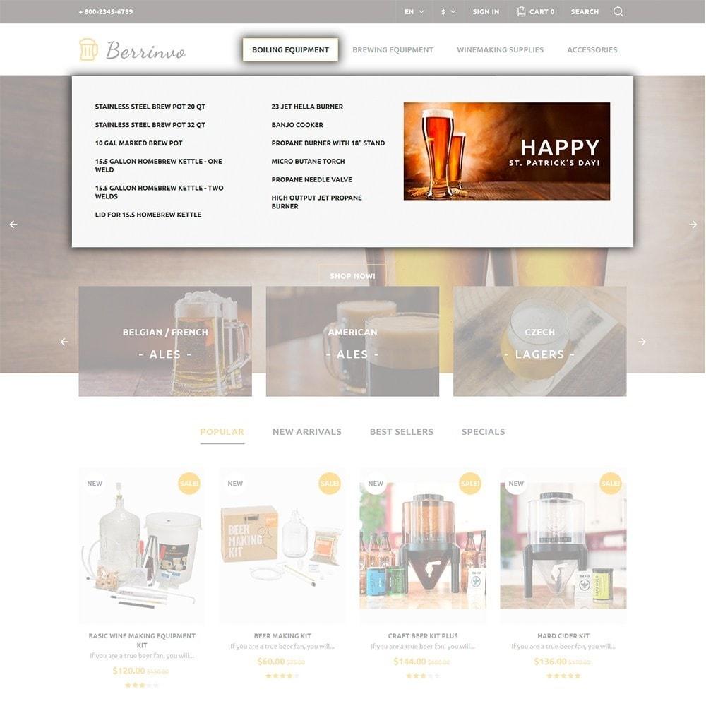 theme - Продовольствие и рестораны - Berrinvo - Адаптивный PrestaShop шаблон пивоварни - 3
