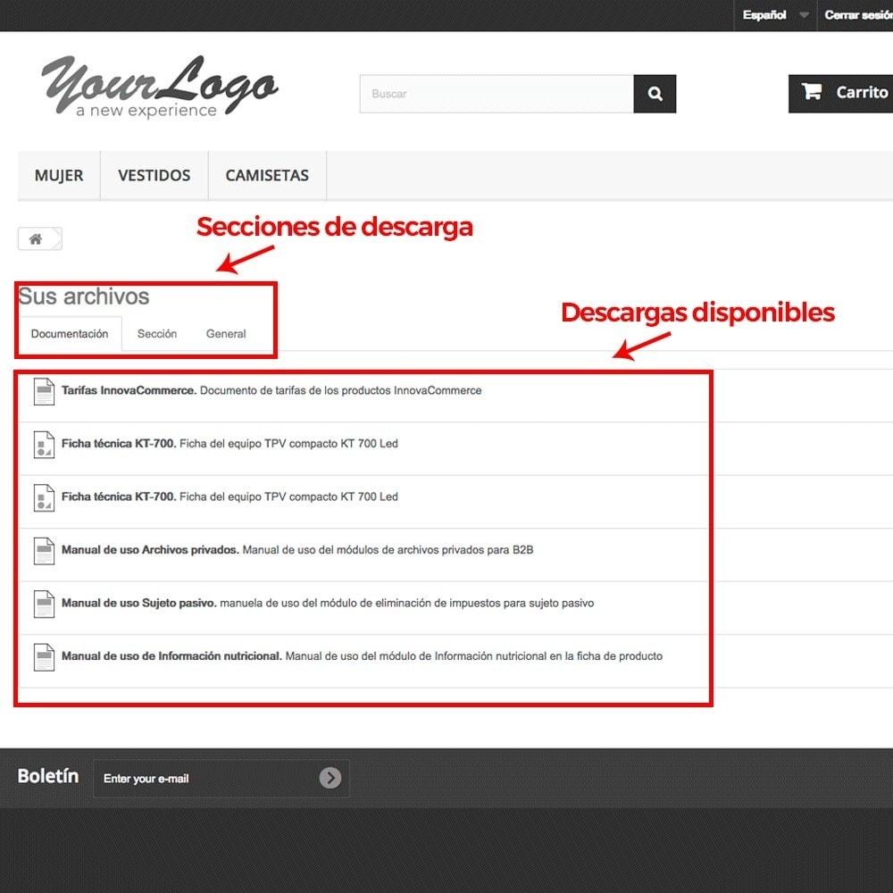 module - Productos Digitales (de descarga) - Zona privada de descargas para clientes autorizados - 10