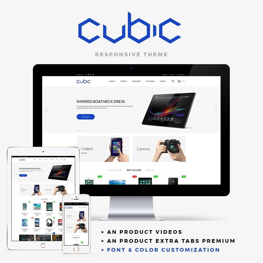 theme - Электроника и компьютеры - Cubic - High-tech Shop - 1