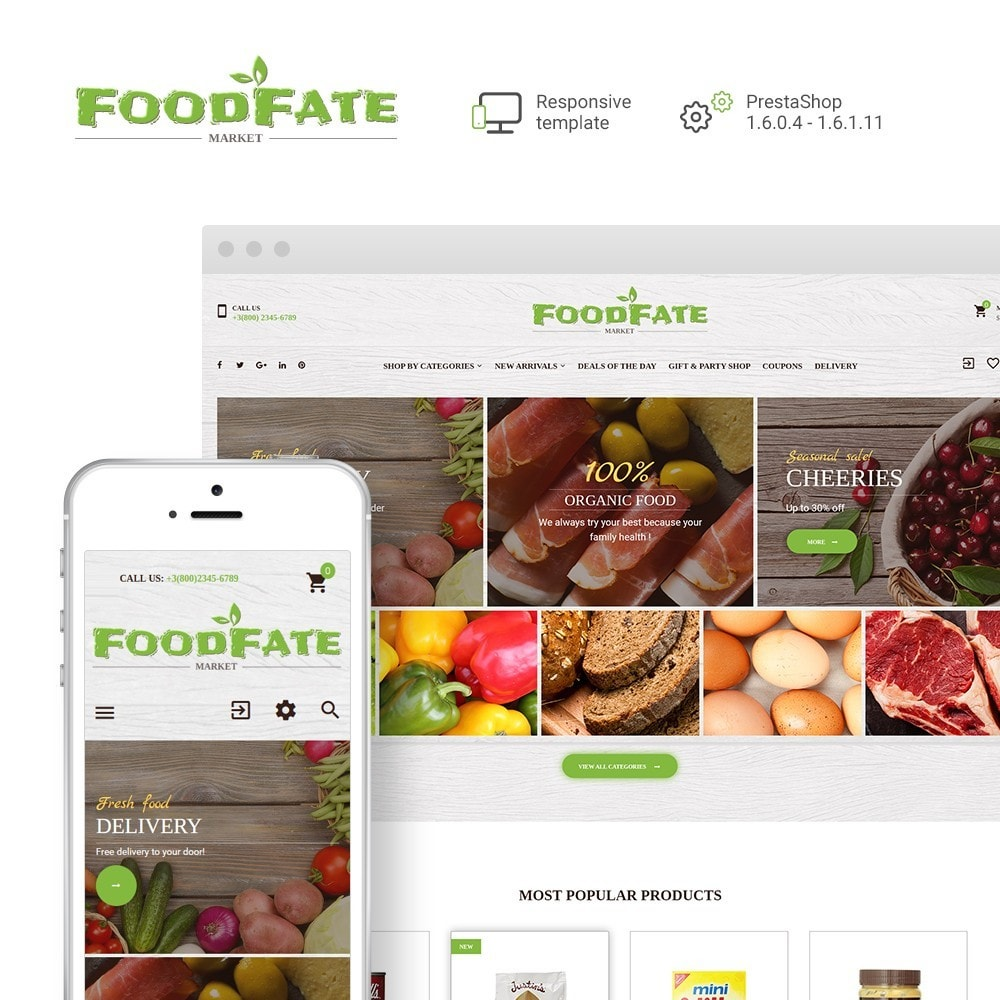 theme - Lebensmittel & Restaurants - FoodFate - Food Store - 1