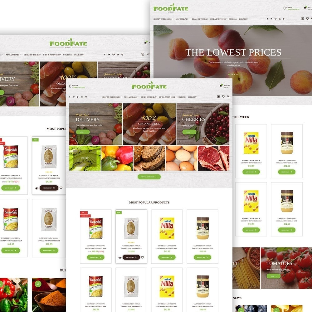 theme - Alimentation & Restauration - FoodFate - Magasin d'alimentation - 3