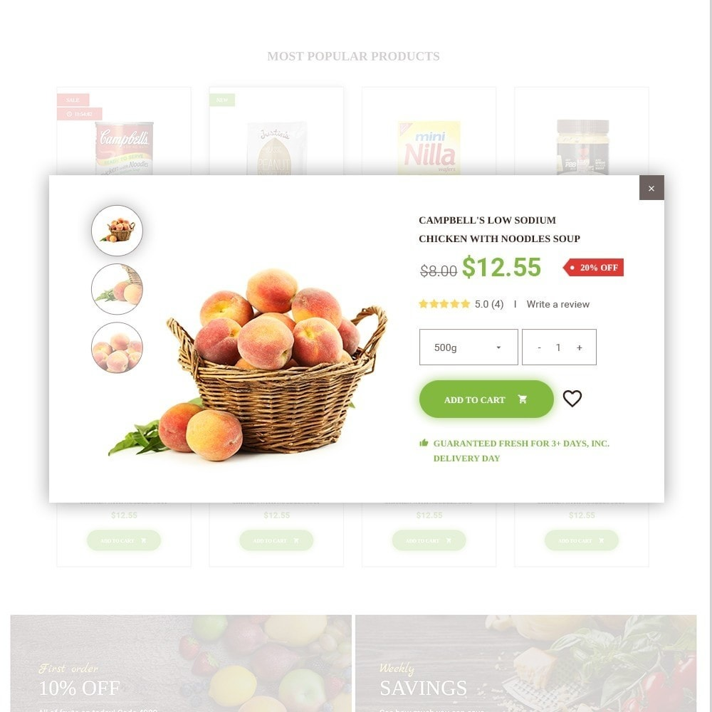 theme - Alimentation & Restauration - FoodFate - Magasin d'alimentation - 6