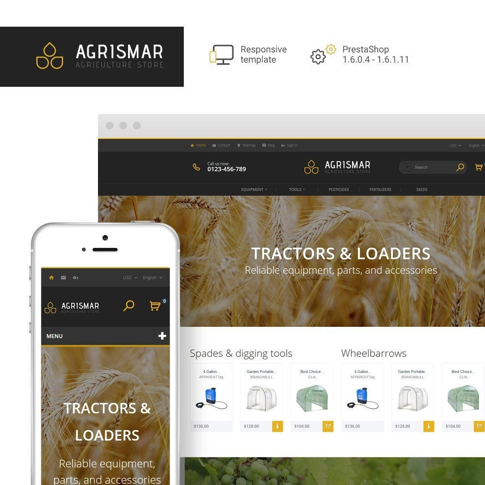 theme - Home & Garden - Agrismar - Agriculture Store - 1