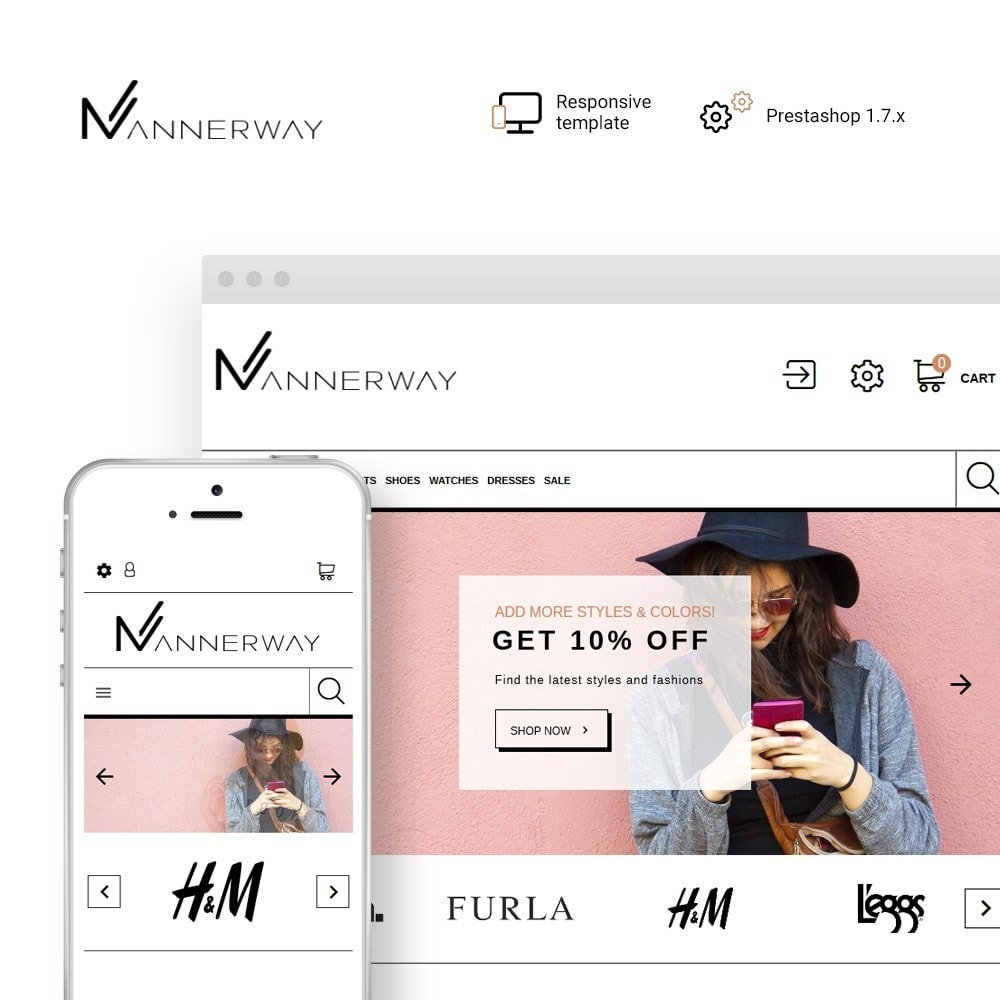 theme - Mode & Schuhe - Mannerway - Clothes & Accessories PrestaShop Theme - 1