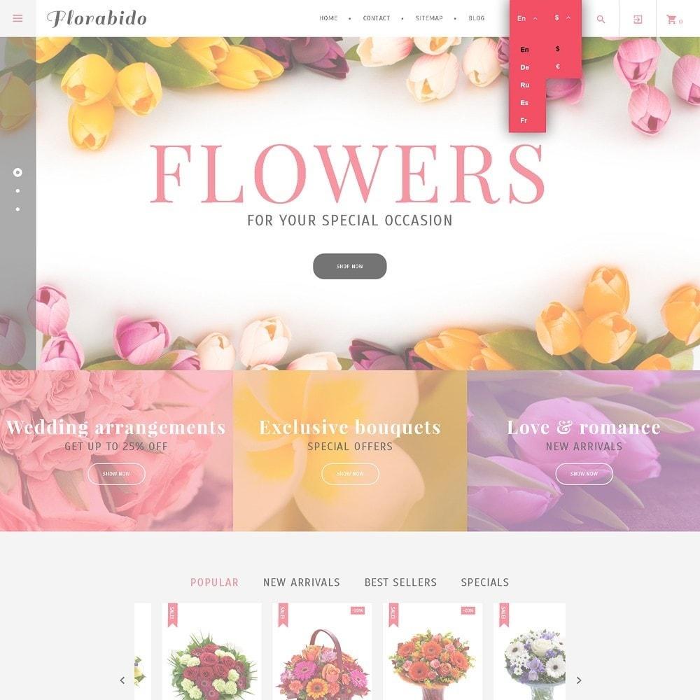 theme - Подарки, Цветы и праздничные товары - Florabido - шаблон цветочного магазина - 4