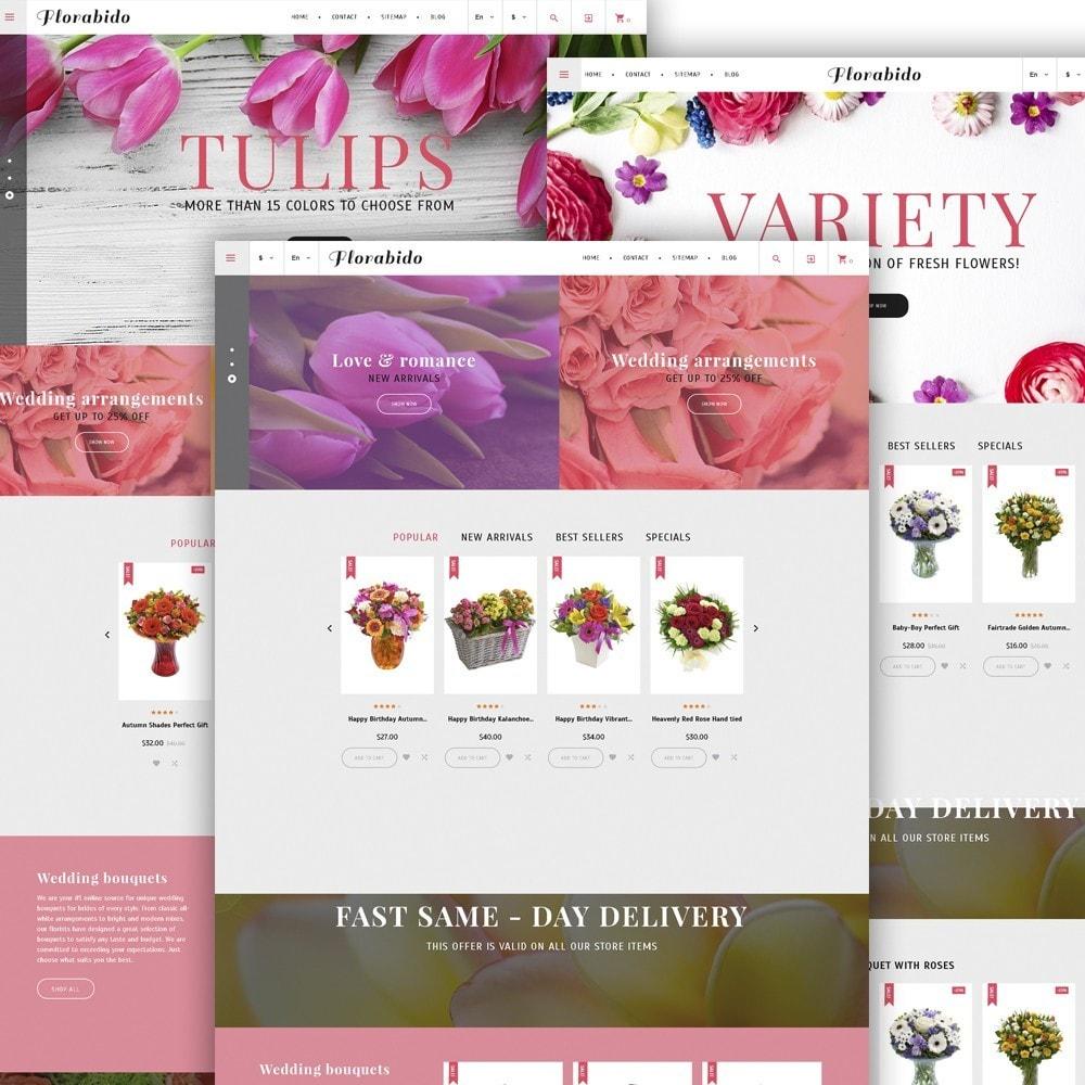 theme - Подарки, Цветы и праздничные товары - Florabido - шаблон цветочного магазина - 6