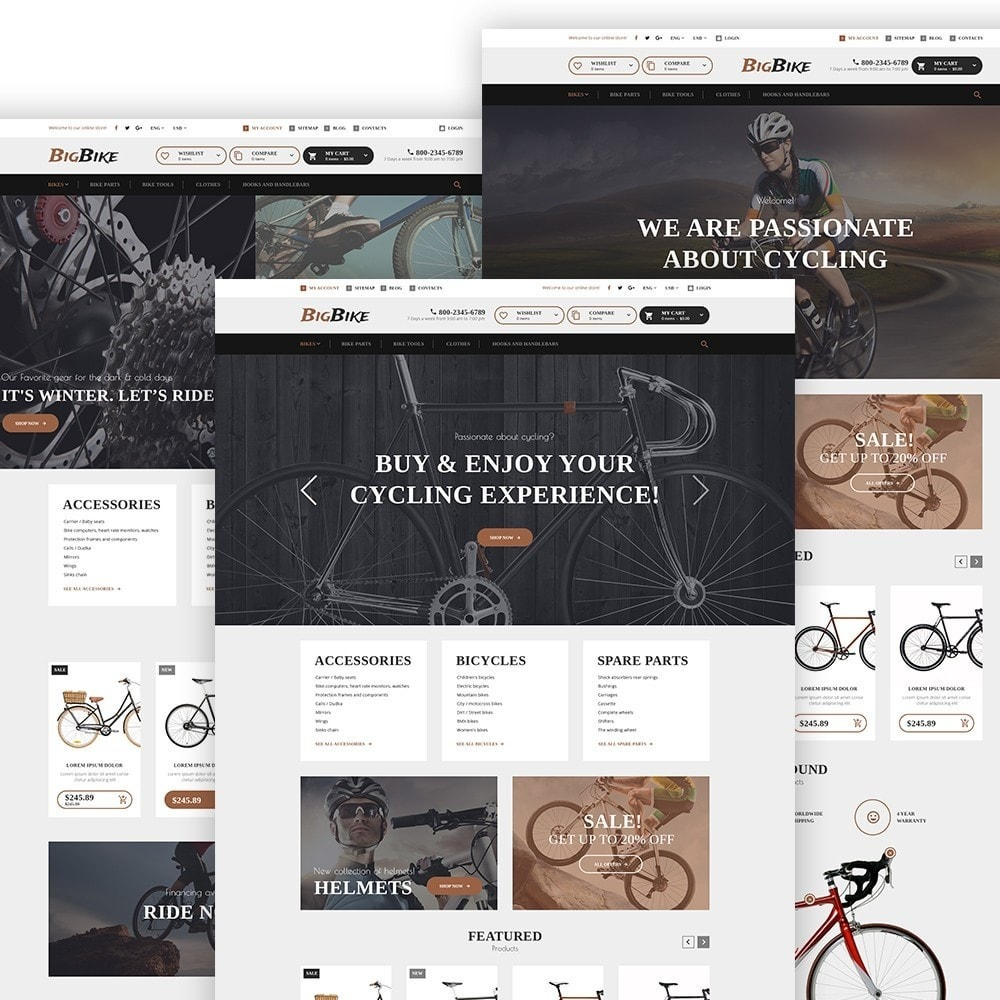theme - Sports, Activities & Travel - BigBike - Bike Shop Responsive - 2