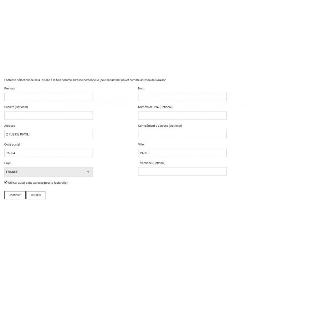 module - Registration & Ordering Process - autocompletion  of addresses - 3