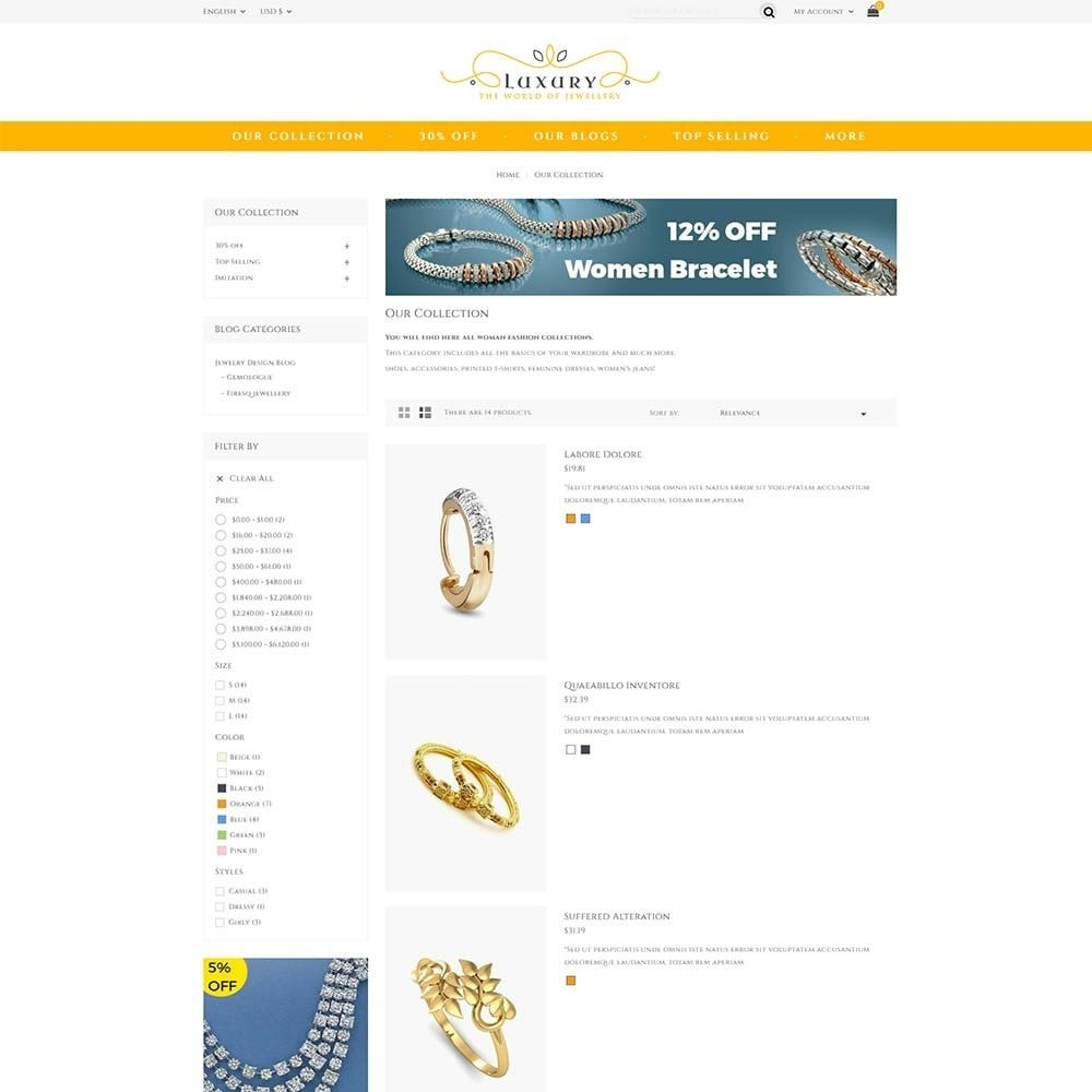 theme - Schmuck & Accesoires - Luxury Jewellery Store - 4