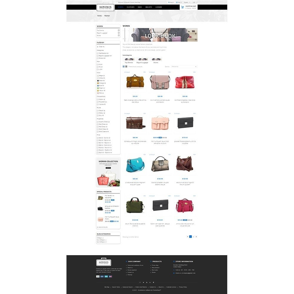 theme - Fashion & Shoes - Novolex Handbag Store - 3