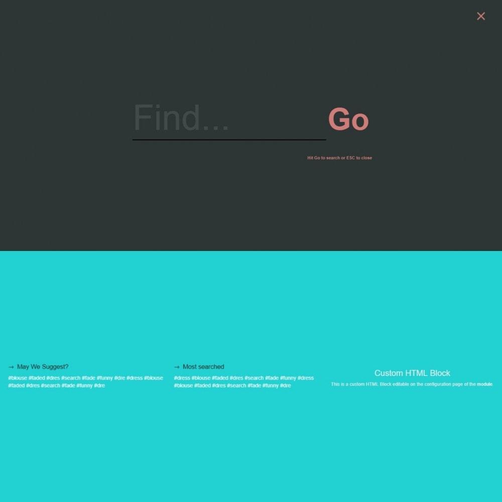 module - Recherche & Filtres - MEGA Search - Bloc de recherche de conception multiple - 13