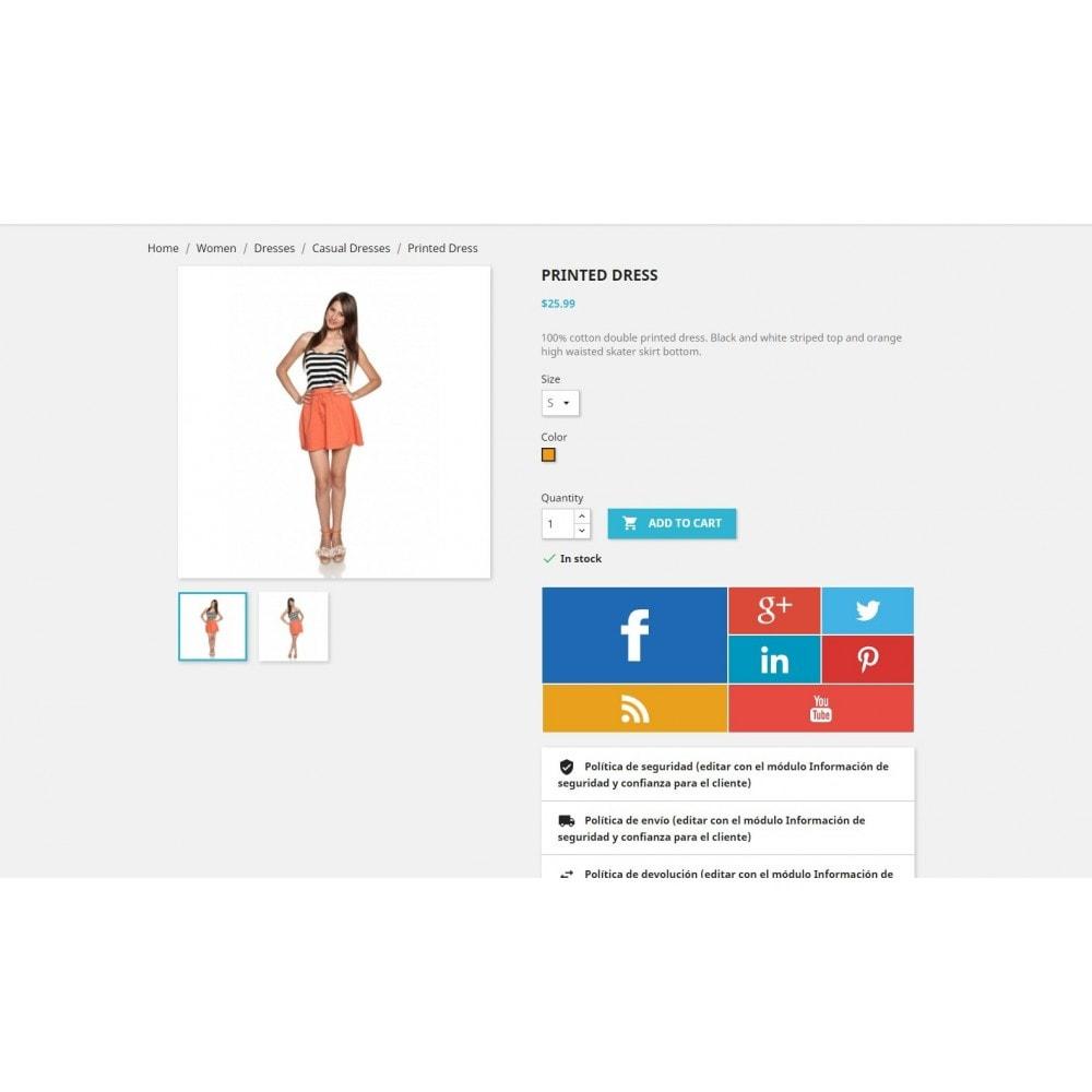module - Widgety serwisów społecznościowych - Metro Social - Follow module - 5