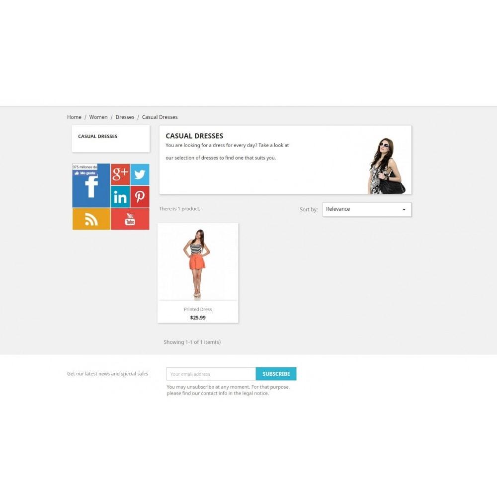 module - Widgets para redes sociales - Metro Social - Follow module - 5