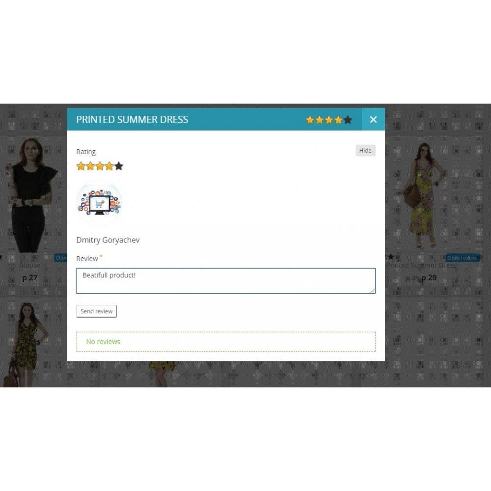 module - Отзывы клиентов - Отзывы о товаре в категории и странице товара - 1