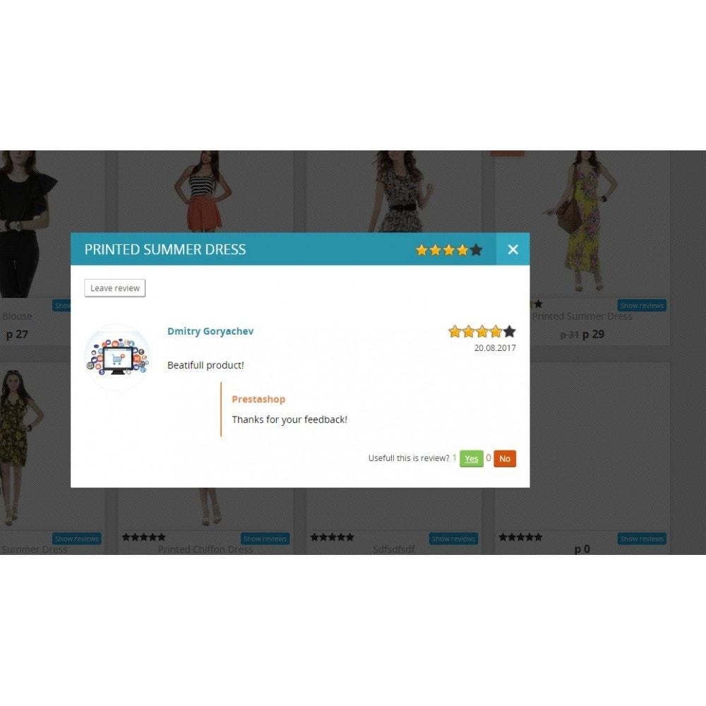 module - Отзывы клиентов - Отзывы о товаре в категории и странице товара - 2